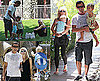 Photos of Gwen Stefani, Gavin Rossdale, Kingston Rossdale, Zuma Rossdale at Beverly Hills Park