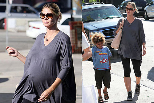 Photos of Pregnant Heidi Klum, Leni Klum, Johan Samuel, Henry Samuel at Karate