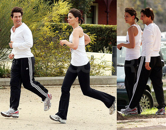 Photos of Tom Cruise and Katie Holmes Running in Australia