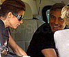 Slide Photo of George Clooney, Elisabetta Canalis on Helicopter in Lake Como