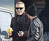 Slide Photo of George Clooney Eating a Banana in Italy