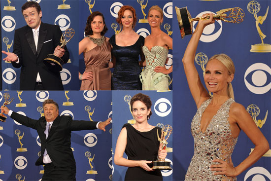 Photos of Emmy Press Room