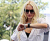 Slide Photo of Lindsay Lohan Checking Her Watch in Singapore