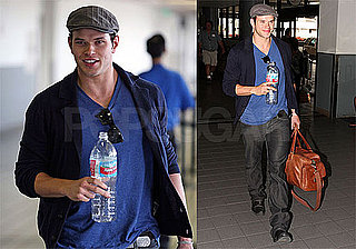 Photos of Kellan Lutz at LAX Flying to Vancouver