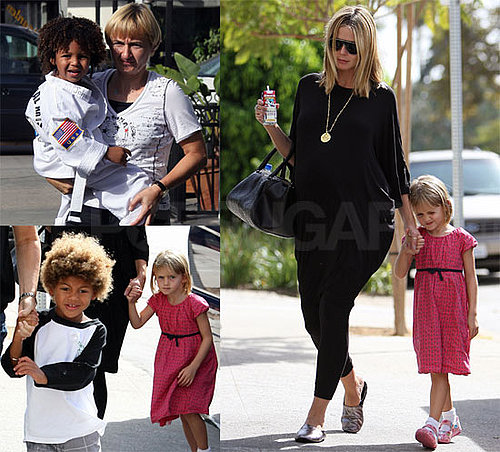 Photos of Pregnant Heidi Klum With Her Kids at Karate Class