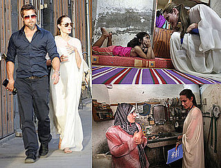 Photos of Brad Pitt and Angelina Jolie in Syria With Iraqi Refugees
