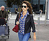 Slide Photo of Penelope Cruz Walking Through Heathrow Airport