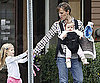 Slide Photo of Jennifer Garner, Violet and Seraphina Affleck out for a Walk in Boston