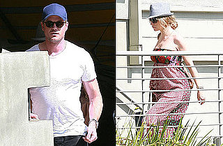Photos of Eric Dane and Pregnant Rebecca Gayheart Returning to Their LA Home