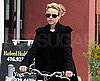 Slide Photo of Rachel McAdams Riding a Bike in Toronto