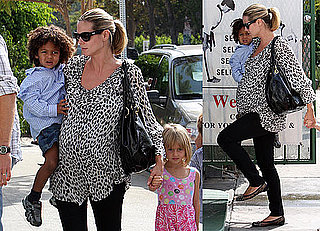 Photos of Heidi Klum With Leni, Henry, And Johan Heading to Karate Class
