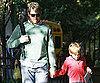 Slide Photo of Matthew Broderick Walking James Wilkie Home From School in NYC