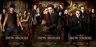 New Moon Posters Featuring Robert Pattinson Embracing Kristen Stewart, Taylor Lautner and Wolves, Dakota Fanning and Volturi