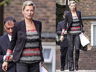 Photos of Kate Moss and Jamie Hince Heading Back to Her London Home