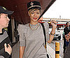 Slide Photo of Rihanna in Berlin at Tegel Airport