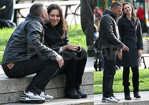 Photos of Ben Affleck And Rebecca Hall Filming The Town in Boston