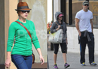 Photos of Scarlett Johansson And Ryan Reynolds Leaving a NYC Gym One Day After Their One Year Wedding Anniversary