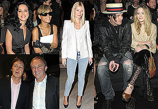Photos of Gwyneth Paltrow, Paul, Stella McCartney, Karl Lagerfeld, Rihanna, Mary-Kate Olsen, Katy Perry at Paris Fashion Week