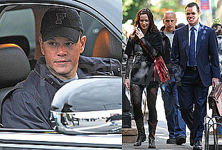 Photos of Matt Damon and Emily Blunt Filming in NYC, Video of Matt Damon on Entourage