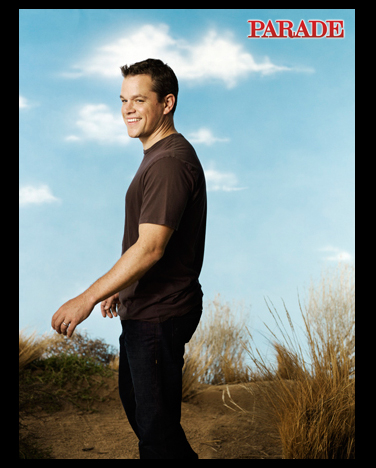 Photos of Matt Damon in Parade Magazine