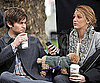Slide Photo of Blake Lively and Chace Crawford on Gossip Girl Set with Penny the Dog