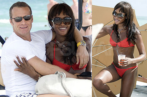 Photos of Naomi Campbell in a Bikini and Vladislav Doronin on the Beach in Miami