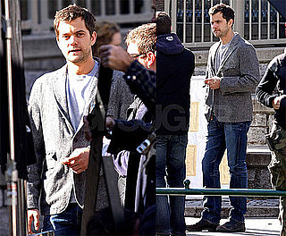 Photos of Joshua Jackson Smoking a Cigar on the Set of Fringe in Vancouver