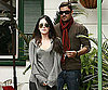 Slide Photo of Megan Fox and Brian Austin Green Leaving Lunch