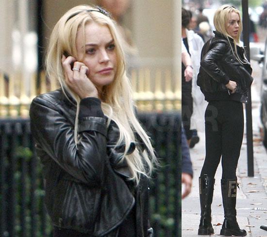 Photos of Lindsay Lohan Smoking in Paris