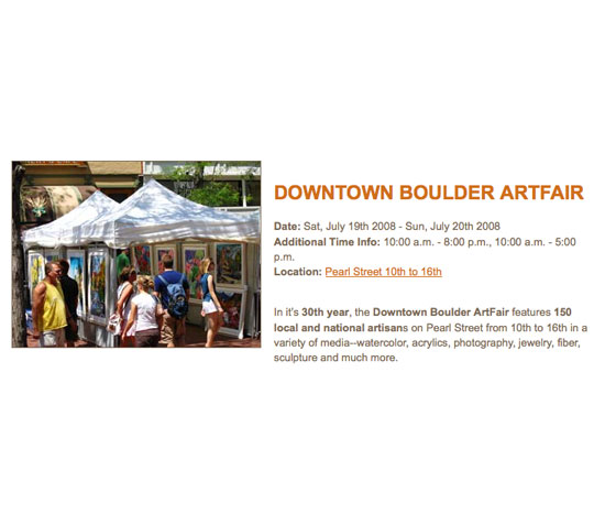 Downtown Boulder's ArtFair