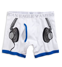 Headphone Print Boxer Briefs From American Eagle