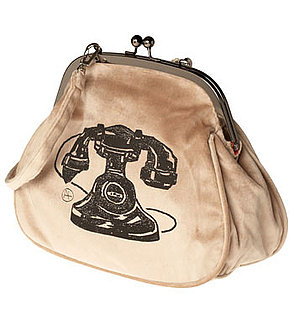 Vintage Telephone Print Purse