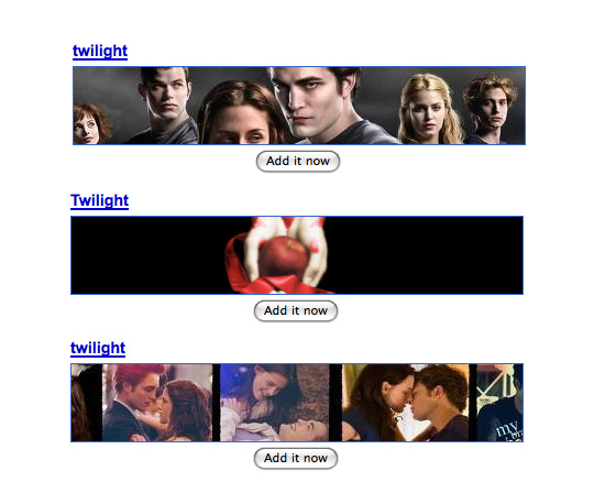iGoogle Twilight Themes