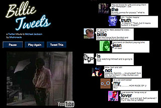 Billie Tweets Matches Real-Time Tweets to Michael Jackson Song Billie Jean