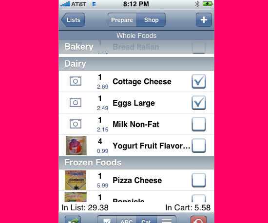 Shop Green With the Grocery Gadget Lite App