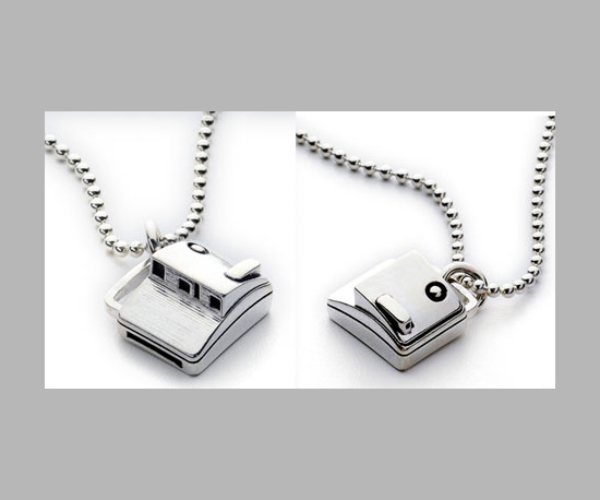 Polaroid Camera Necklace