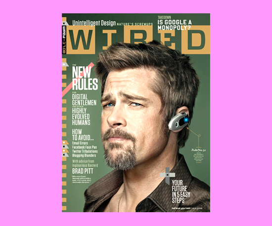 Brad Pitt Gets Cover of Wired