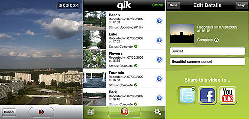 Daily Tech: Qik App Available For Free On the iPhone 3GS
