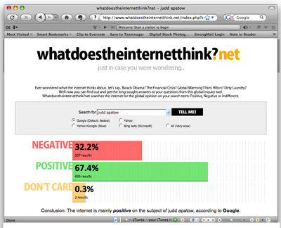 Website What Does the Internet Think Tells You Internet Opinion on Subjects