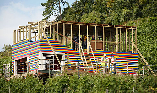 House Being Built Entirely Out of Legos and Wood in The UK