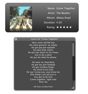 GimmeSomeTune Adds Lyrics and Album Art to Your iTunes Music Collection