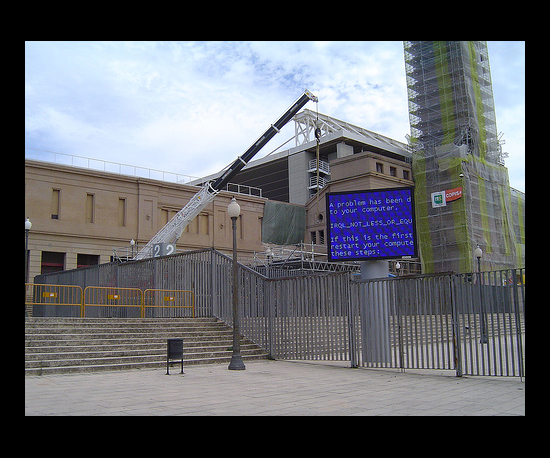 BSOD Graces an Olympic Stadium in Barcelona