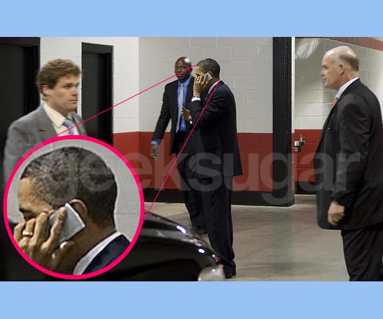 Barack Obama Chitchatting on His BlackBerry