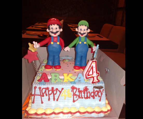 Mario and Luigi Birthday Cake