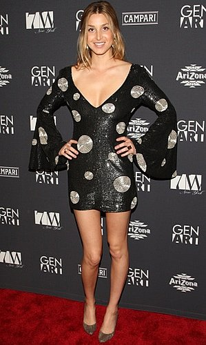 Photo of Whitney Port Wearing Polka Dot Dress at Gen Art 15th Anniversary Benefit in NYC