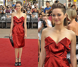 Marion Cotillard Wears Red Vivienne Westwood Dress at Public Enemies Premiere in London