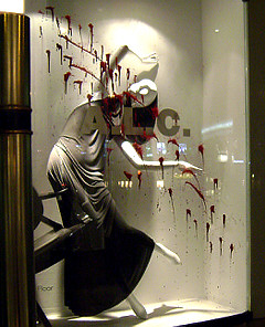Freaky or Fabulous: Barneys' Bloody Window Display