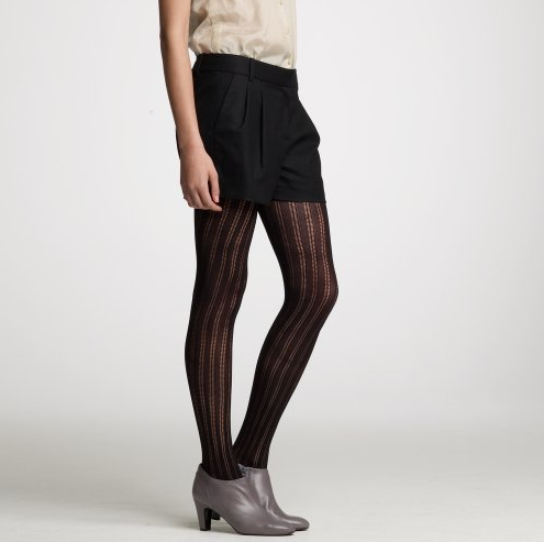 You can pair this Flannel Wool Short, ($98) with fun tights.