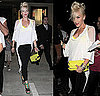 Gwen Stefani Attends Gavin Rossdale&#039;s Concert in LAMB Shoes and Shredded Tee