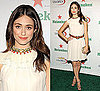 Photo of Emmy Rossum Wearing Cream Temperley London Dress at US Open Party in NYC